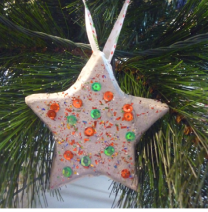 Plaster star Christmas decorations, Charlotte and friends would love making  these - Make A Plaster Paris Christmas Star Plaster Of Paris Ornaments