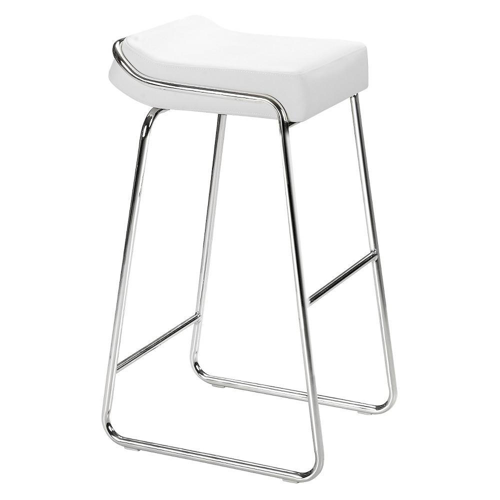 Set Of 2 32 Elegant Contemporary Barstools White Zm Home Bar Stools Black Bar Stools Backless Bar Stools