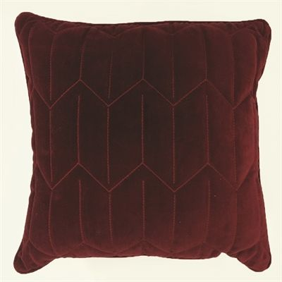 Allen Roth Rhubarb And Rhubarb Chevron Square Lumbar Outdoor Best Lowes Outdoor Decorative Pillows