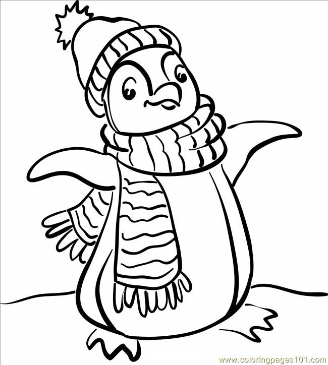 coloring pages of penguins # 1