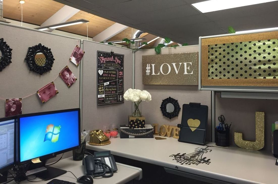 - 51 DIY Cubicle Decor Ideas For Better Working Space Work Cubicle