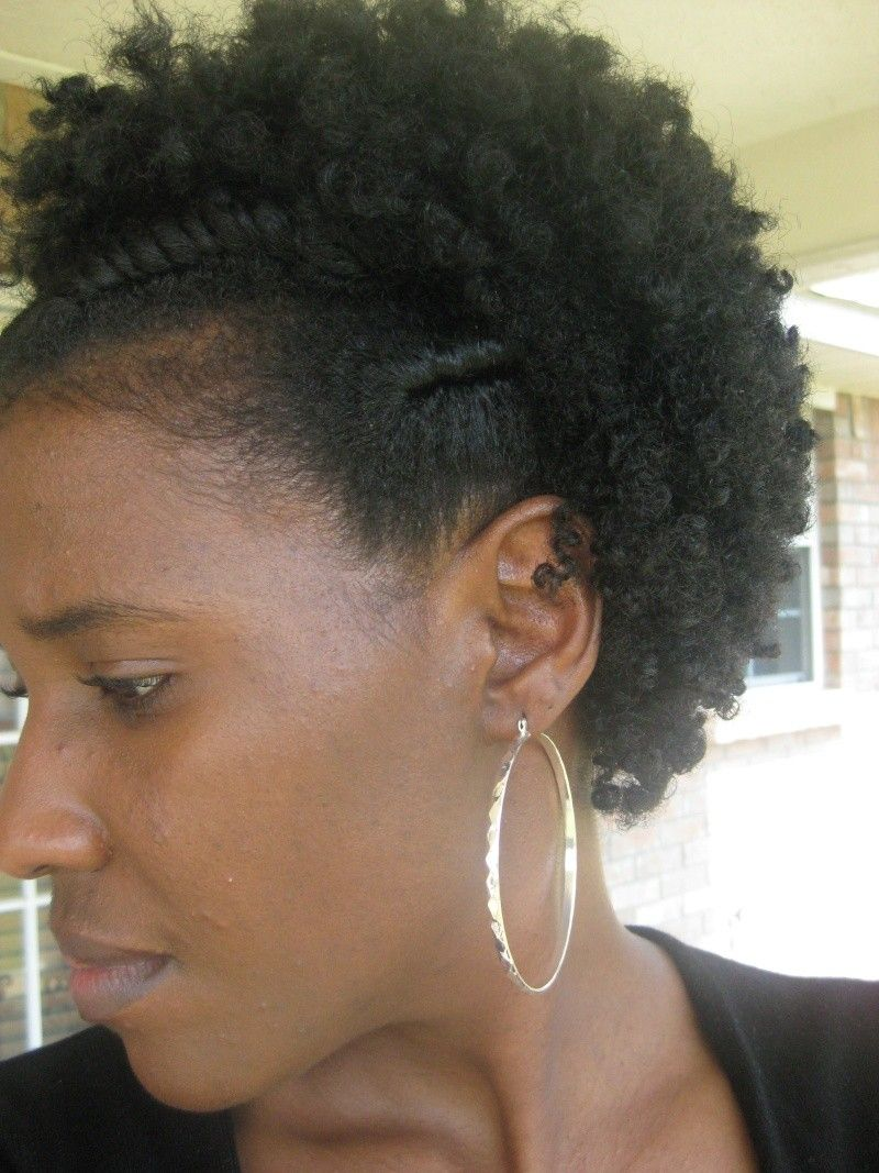 flat twist curly fro- natural hair
