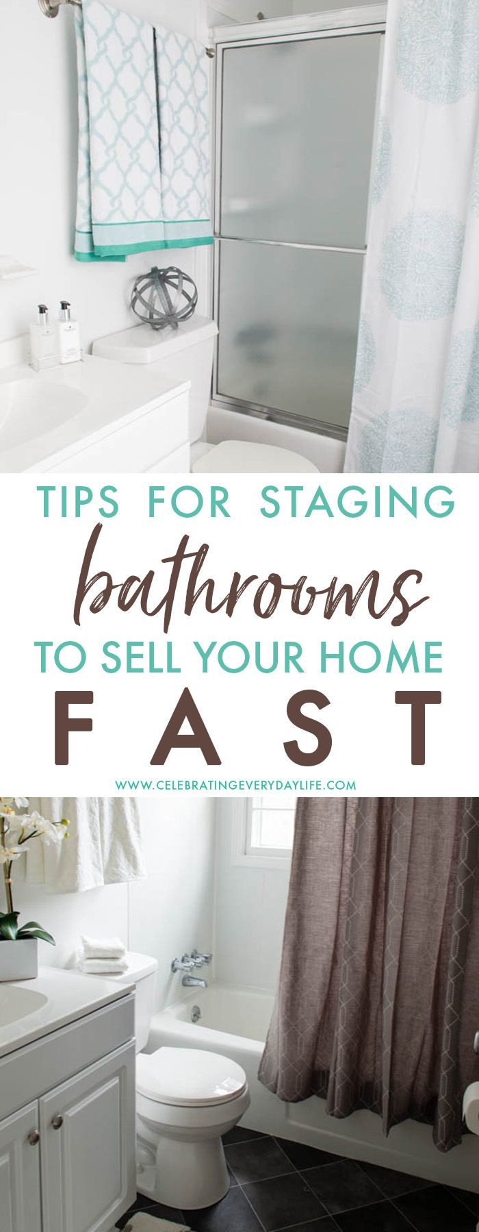 How to Stage a Bathroom (or two   Houses sold, Stage and House