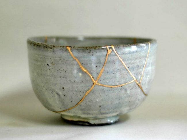 Diy Les éclats Portent Bonheur à La Maison Bol En Poterie Art Japonais Ancien Art Ancien