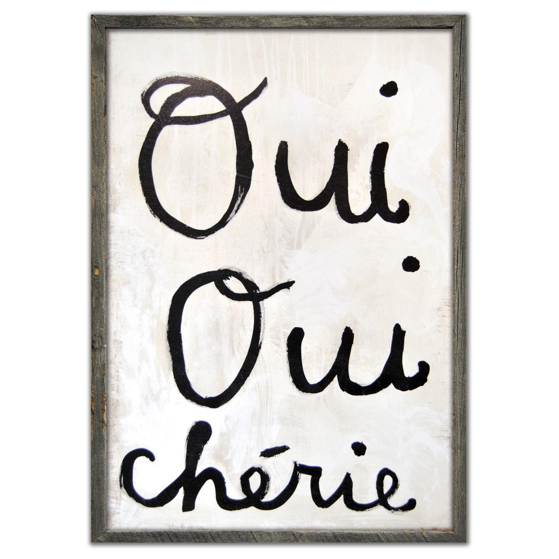 Nursery - Sugarboo Designs Oui Oui Cherie Framed Art Print ...