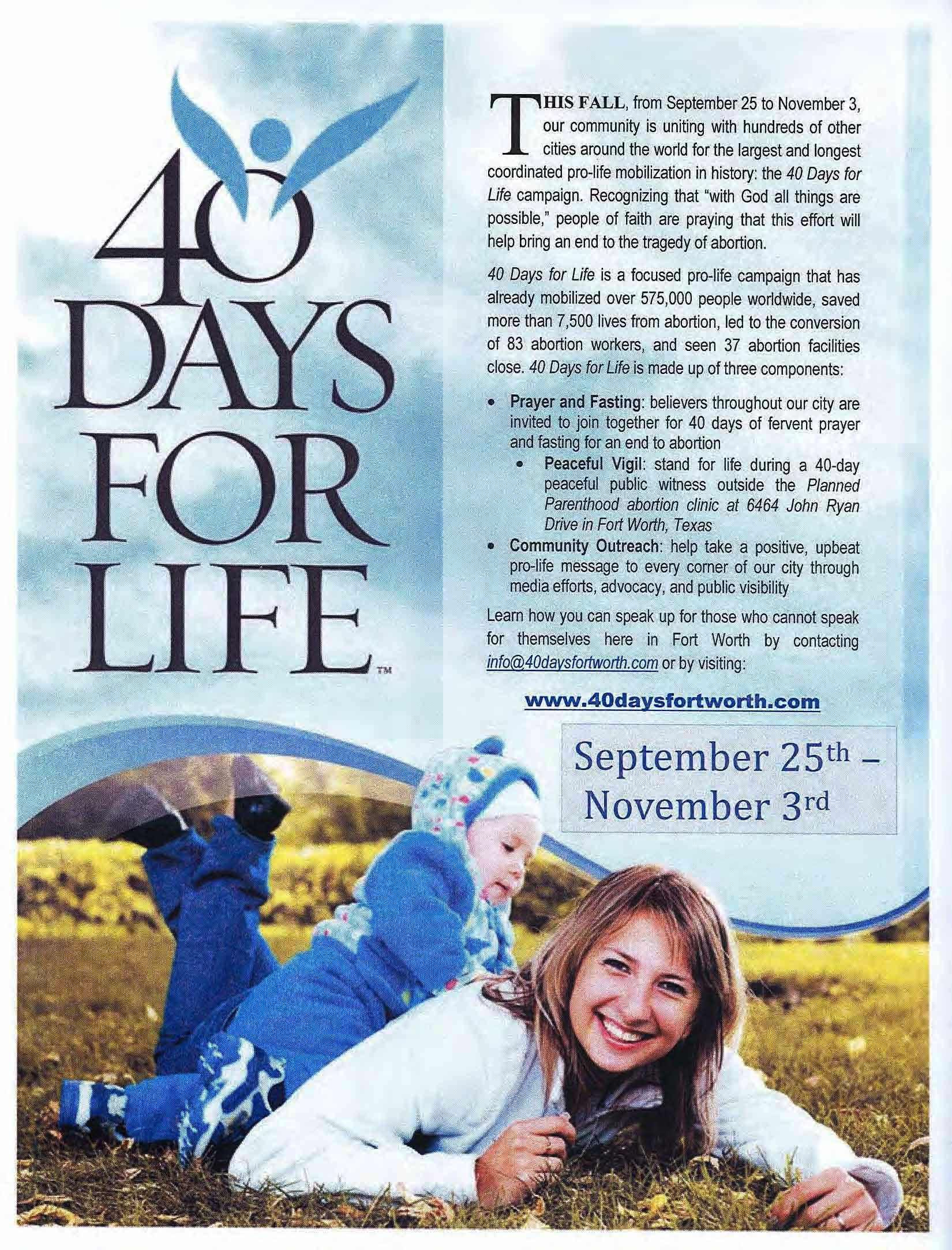 40 Days for Life_english.jpg (1650×2166) (con immagini)