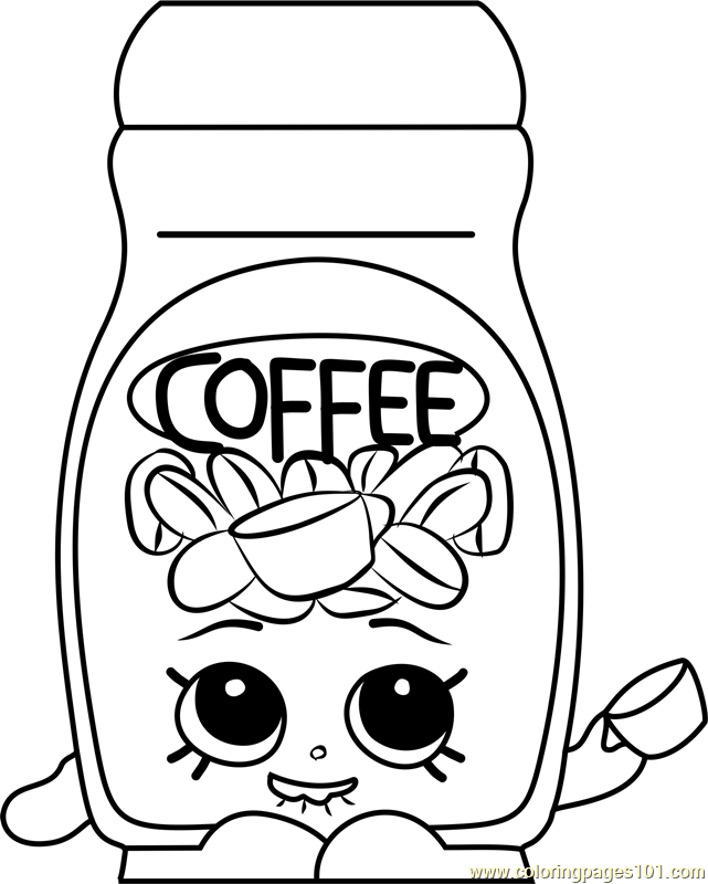 Toffy Coffee Shopkins Coloring Page Shopkins Colouring Pages, Cute Coloring  Pages, Bunny Coloring Pages