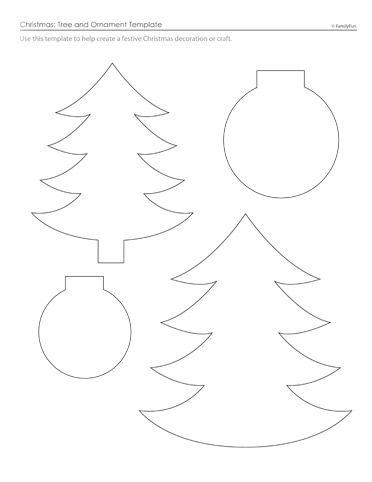 Christmas Tree & Ornament Patterns (Printable Templates