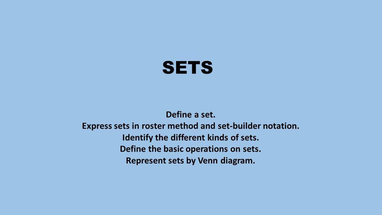 How To Define A Set In Math Sets Math Math Methods Math