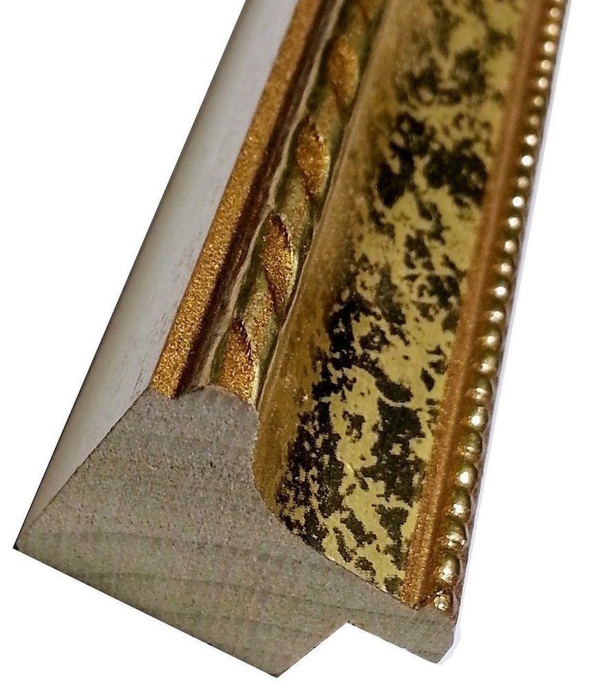 220 Ft Larson Juhl Ornate Gold Picture Frame Moulding Wood Gold Leaf Scoop Nickellmoldi Gold Picture Frames Picture Frame Molding Wholesale Picture Frames