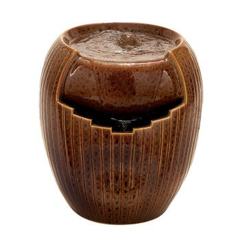 Woodland Imports Ceramic Water Fountain