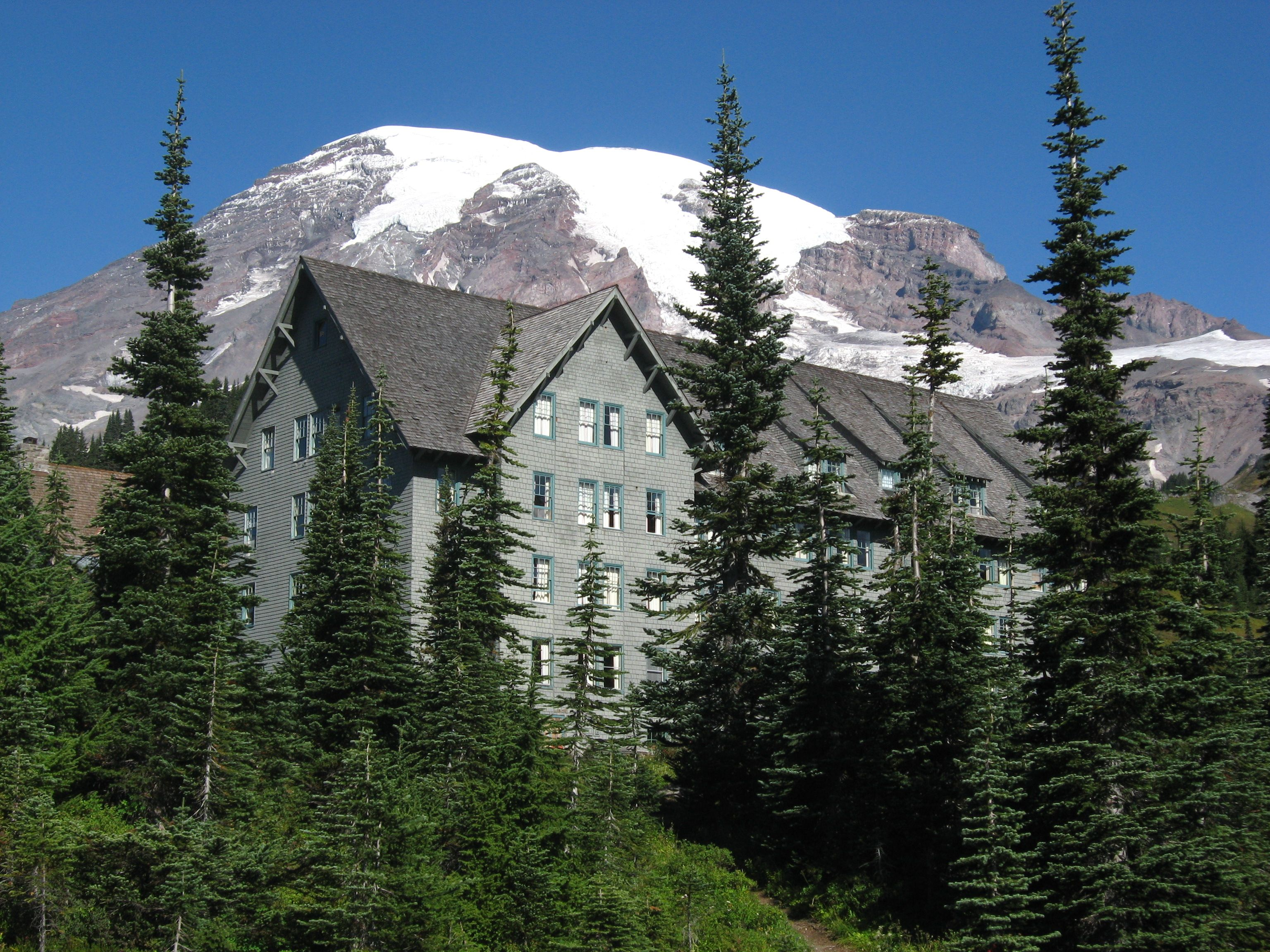 Paradise Inn Mt Rainier National Park Washington State USA