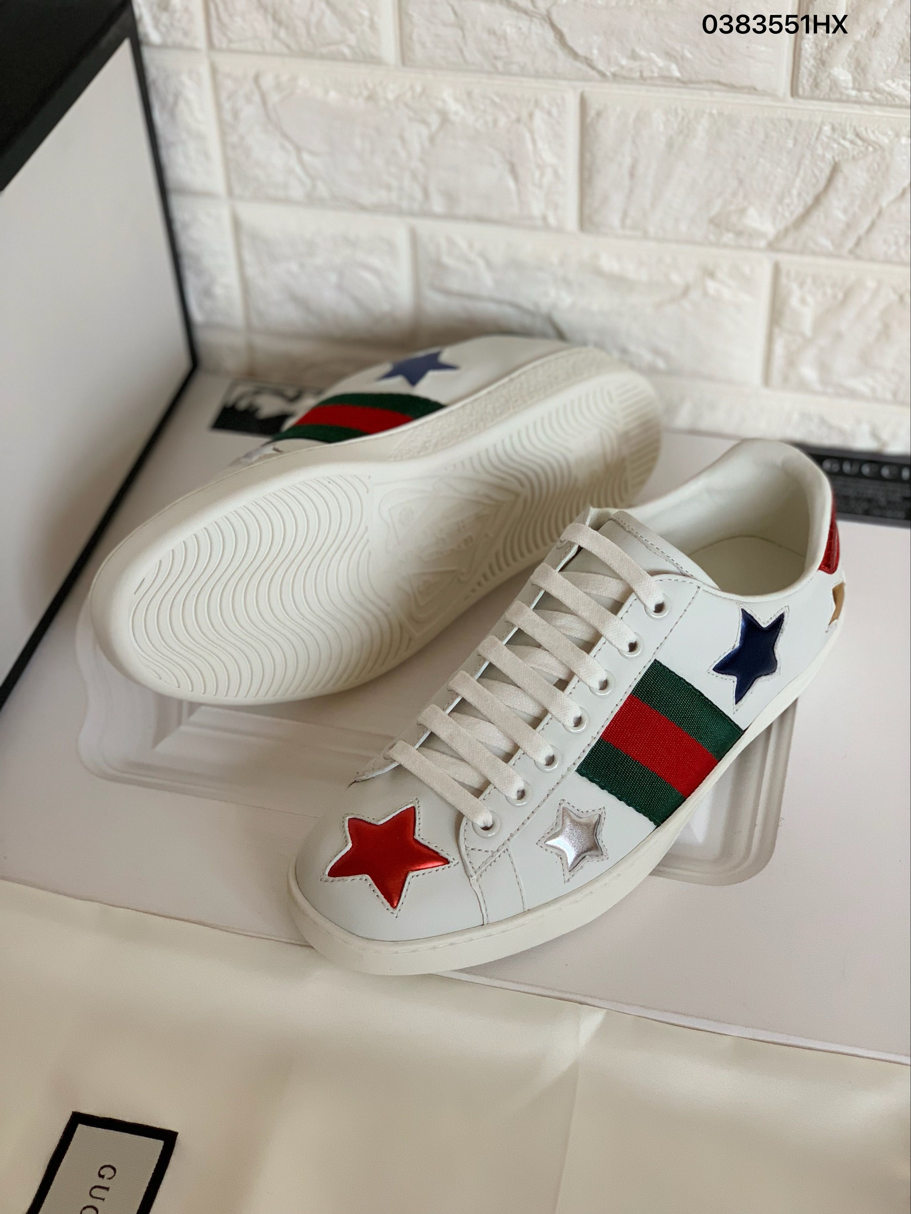 Gucci woman man ace sneakers colorful
