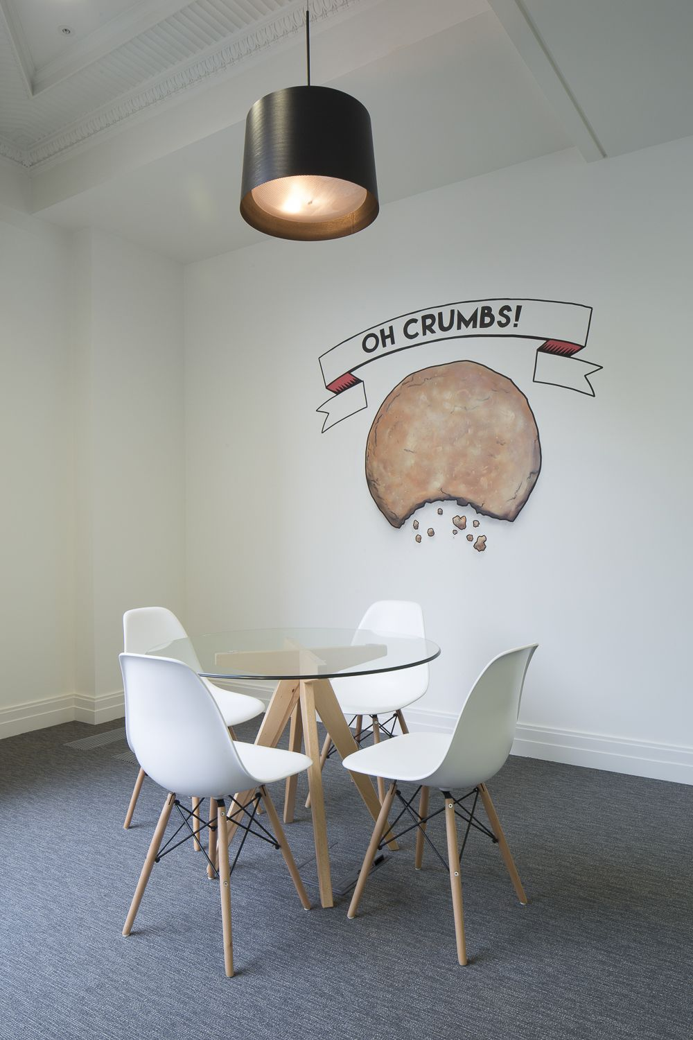 office interior design biscuit themed meeting rooms for the
