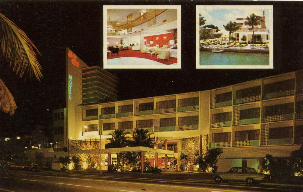 Moulin Rouge Resort Motel, Miami Beach, FL Florida hotel Chrome Postcard