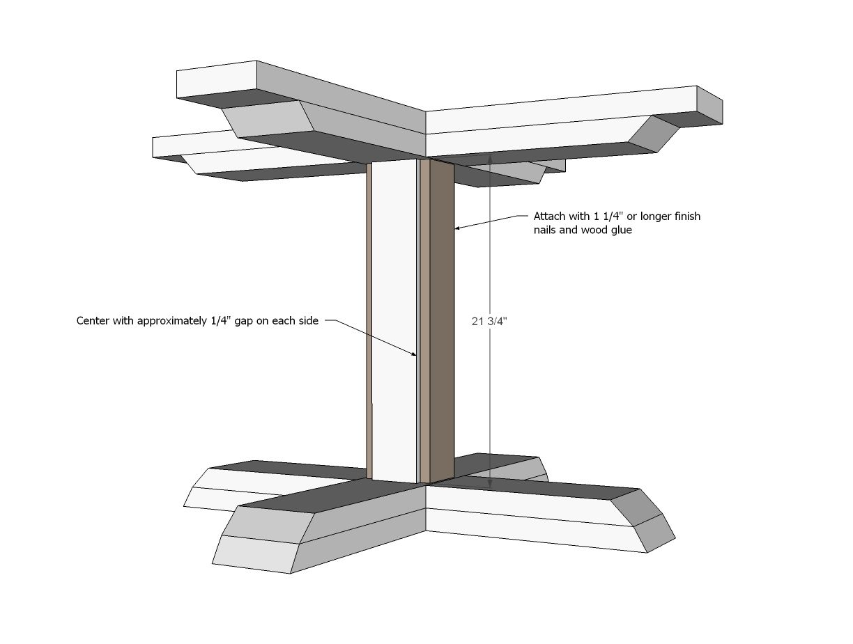 Ana White | Build a Square Pedestal Table | Free and Easy ...