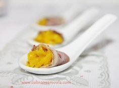 Recette de Cuillères apéritives au magret de canard fumé et à la mangue