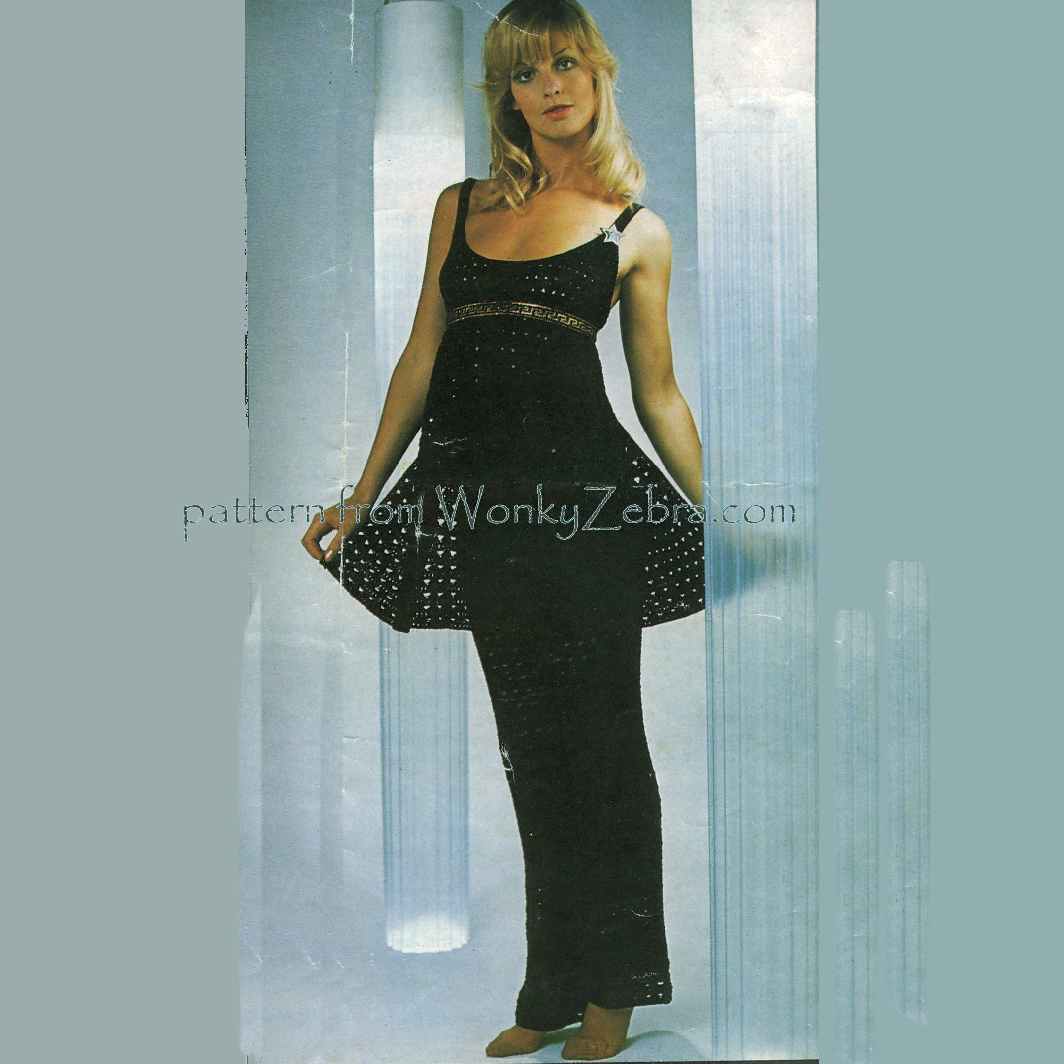 WZ220 vintage crochet pattern from the fab Barbara Warner couture ...
