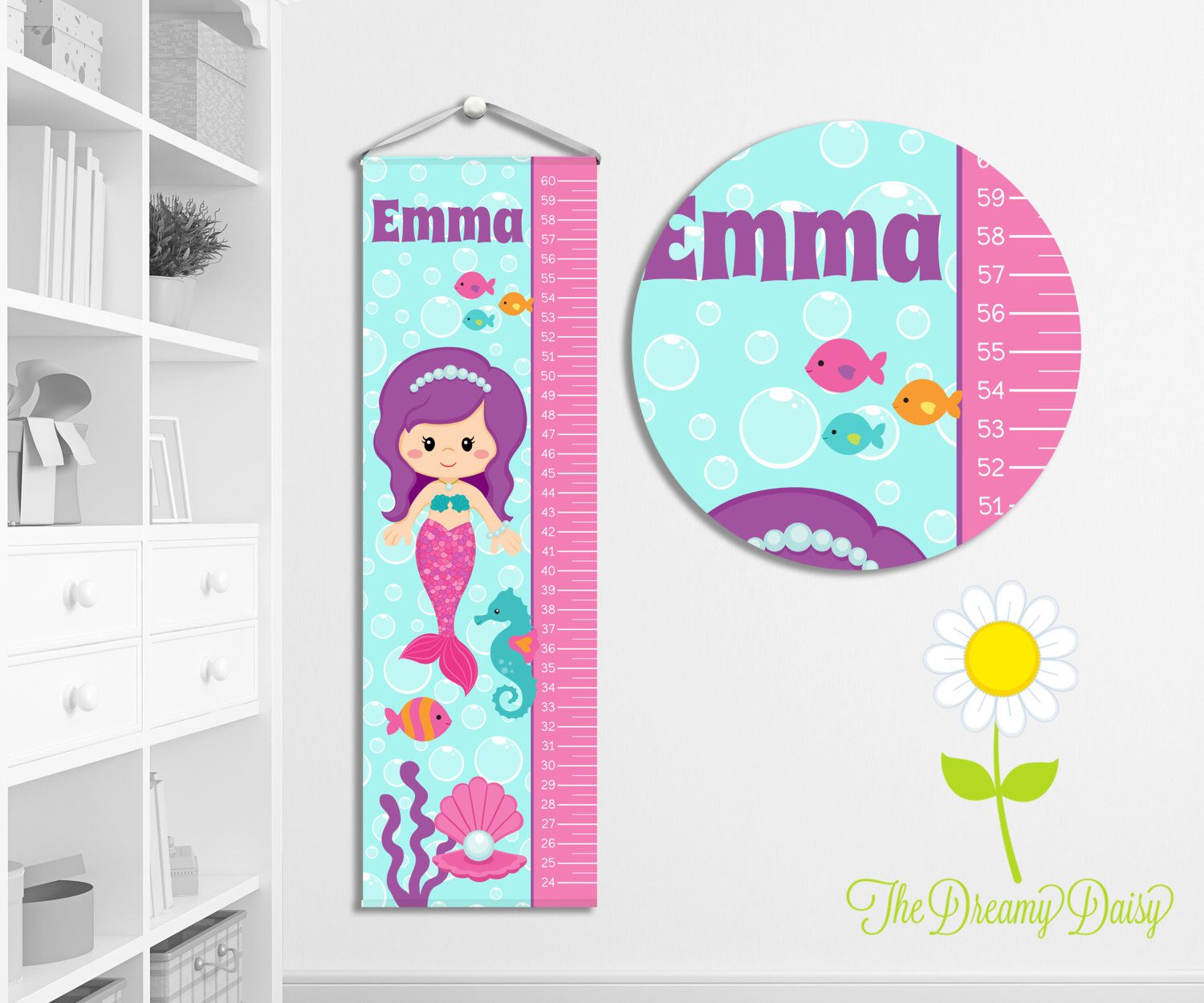 Personalized growth chart for kids custom girls mermaid growth personalized growth chart for kids custom girls mermaid growth chart w name geenschuldenfo Choice Image