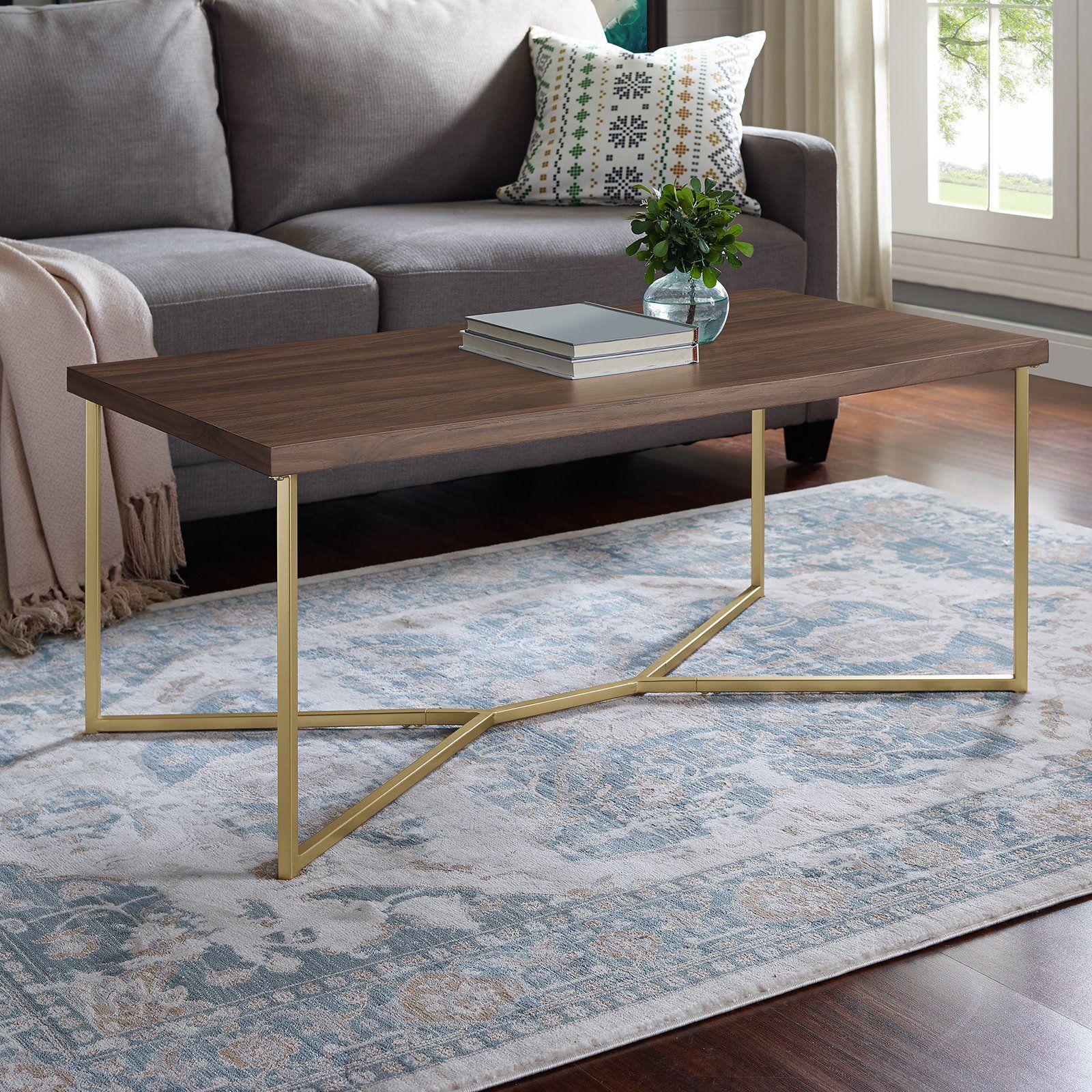 Manor Park Mid Century Modern Y Leg Coffee Table In 2020 Coffee Table Gold Coffee Table Walnut Coffee Table [ 1600 x 1600 Pixel ]