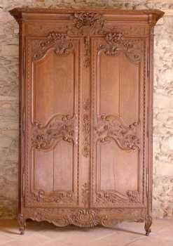 armoire normande meuble bois brut