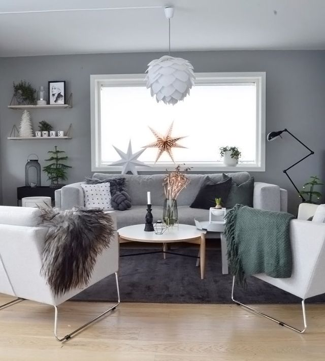 Love this beautiful living room! Vita Silvia Light Shade available ...