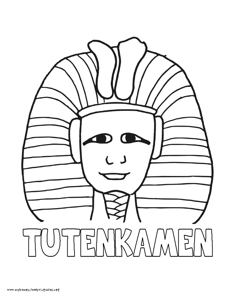 World History Coloring Pages Printables King Tut HistoryQuick PrintColoring