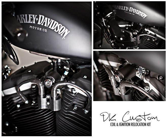 harley davidson gas tank wiring dk custom coil and ignition relocation with tank lift and wires  dk custom coil and ignition relocation