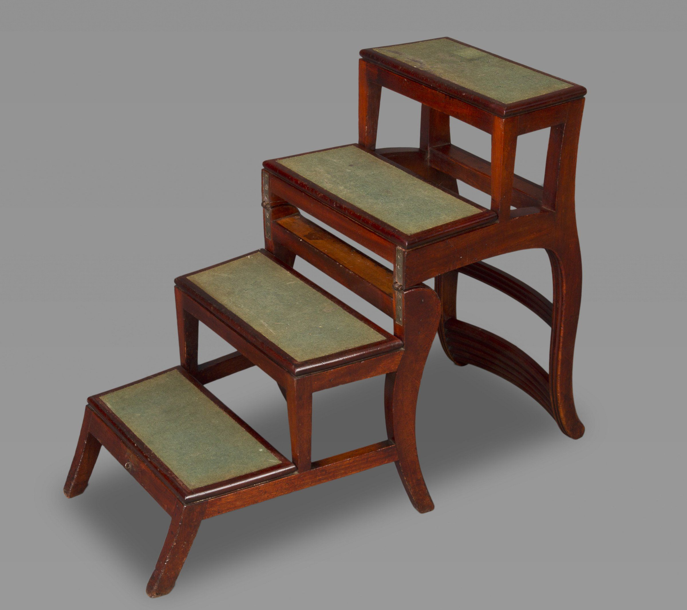 Major Furniture Stores: A Regency Metamorphic Walnut Side Chair / Library Steps In