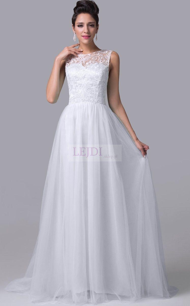 Suknia ślubna Z Gipiurą I Z Trenem Lejdi Sukienki Dresses