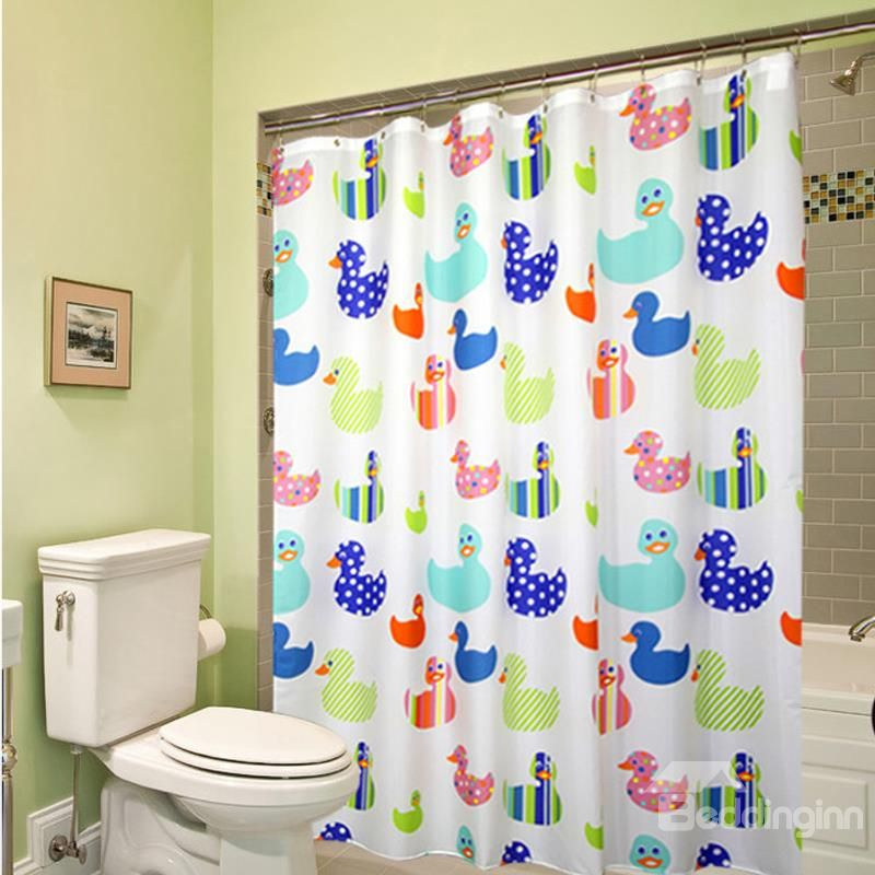 New Arrival Cute Cartoon Duck Printing Shower Curtain On Sale, Buy Retail  Price Shower Curtains