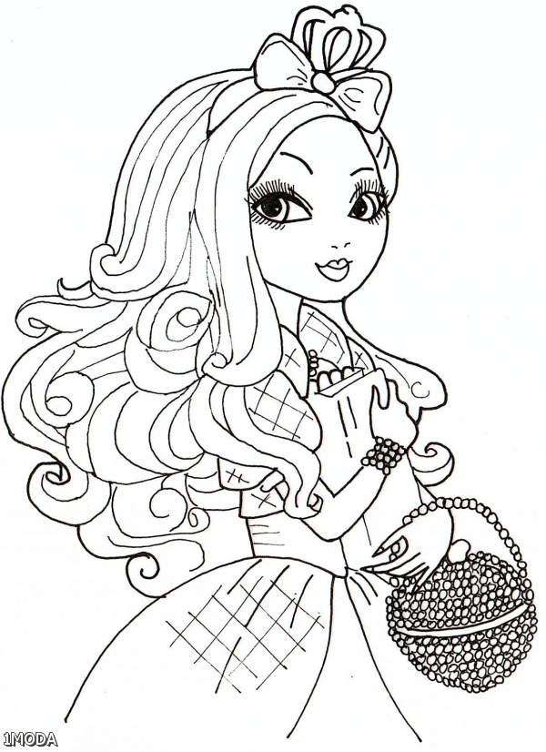 Wpid Ever After High Coloring Pages Briar Beauty And Apple White