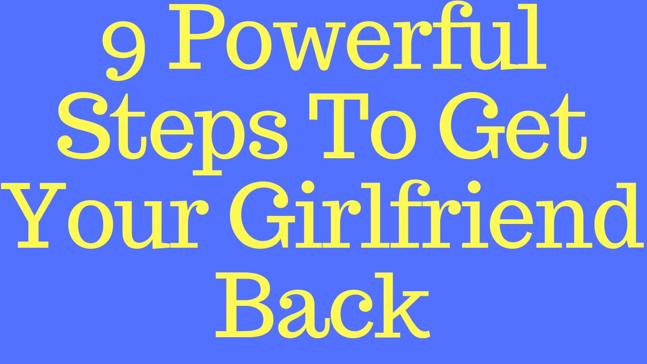 steps to get a girlfriend