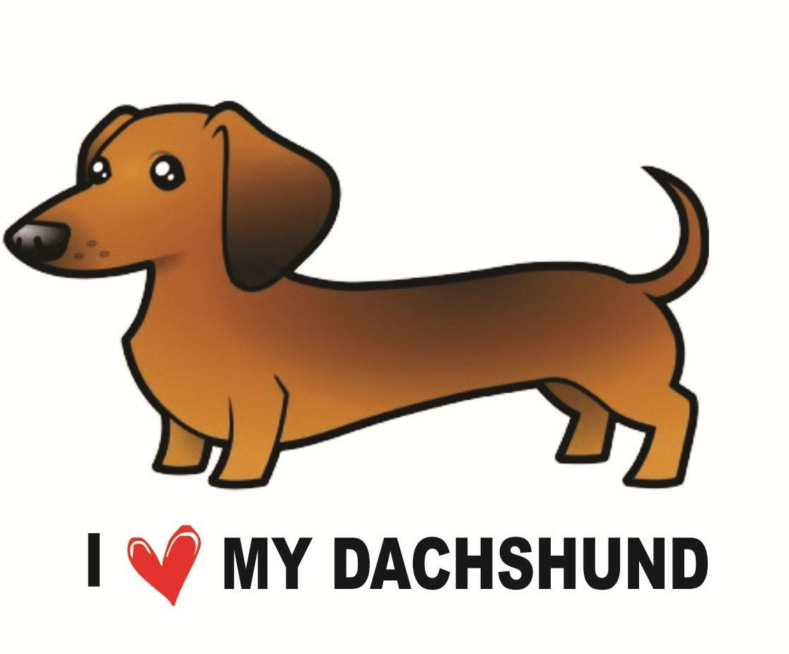 I Love Dachshunds adesivo-i-love-my-dach...