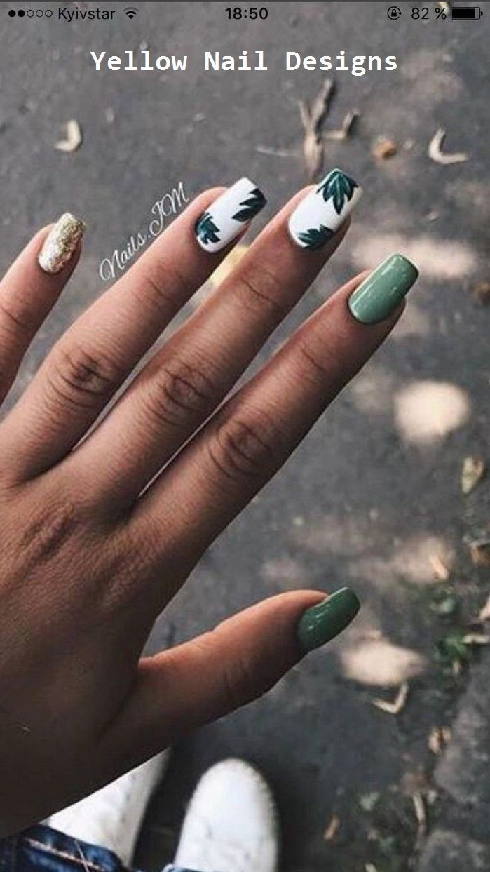 23 Great Yellow Nail Art Designs 2019 #nailideas  Yellow Nails Design