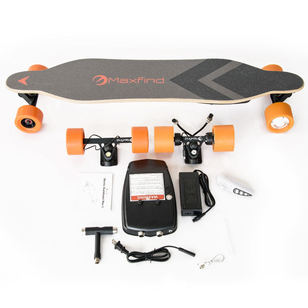 Maxfind Diy Electric Skateboard Longboard Drive Kit With Dual Hub