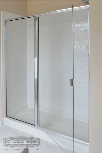 Classic Frameless Continuous Hinge Door And Inline Panel