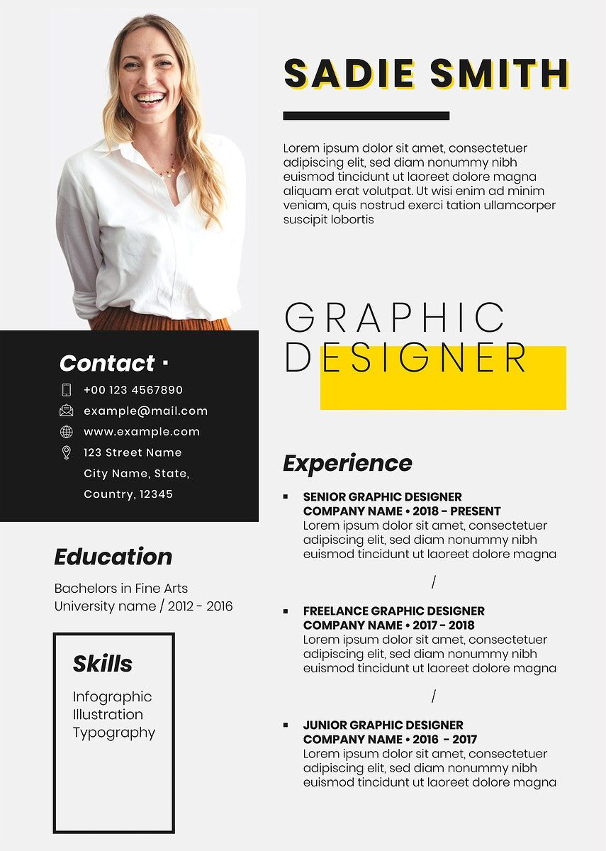 Creative editable CV template downloadable psd resume for
