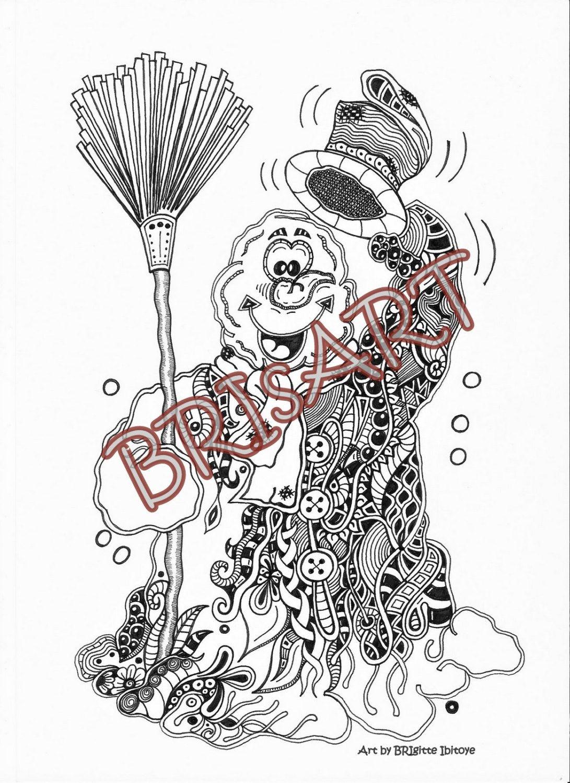 Zentangles Download coloring ZENZIA \