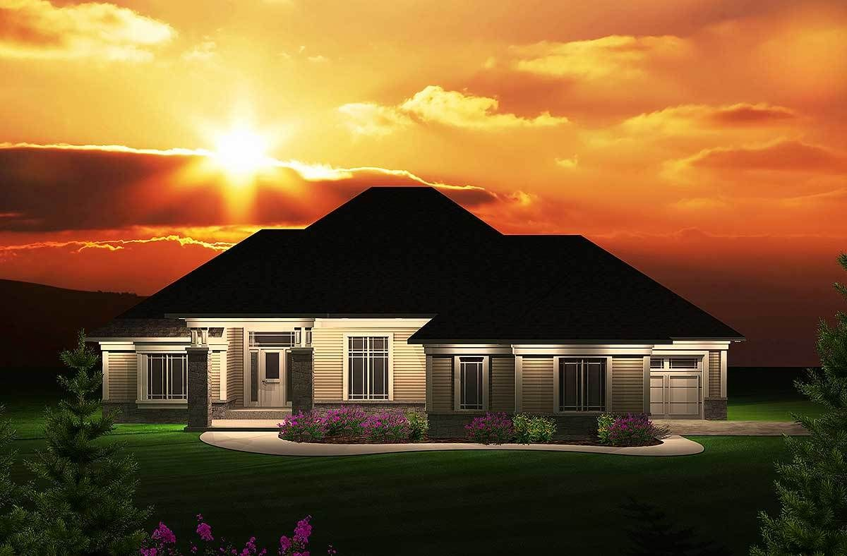 Master bedroom jacuzzi designs  Plan AH Split Bedroom Ranch Home Plan  Architectural design