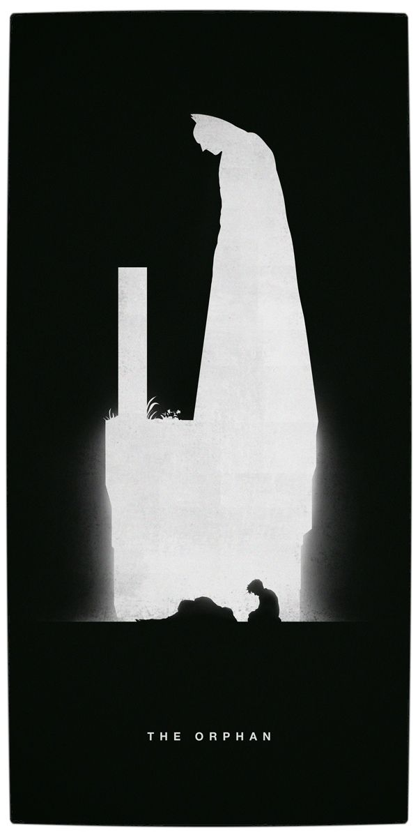 Vamers artistry superhero origins captured in iconic black and white minimalist posters batman the orphan