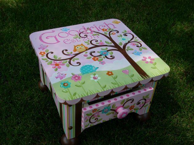 Personalized Handpainted Secret Drawer Children S Wooden