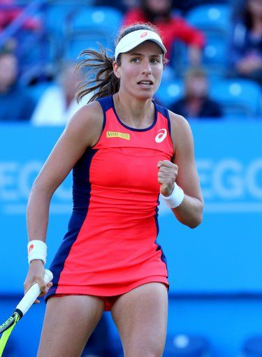 Jo Konta S Win Over Angelique Kerber Makes Her The 1st British Woman To Defeat A Reigning No 1 Since Bark Tennis Players Female Tennis Champion Female Athletes