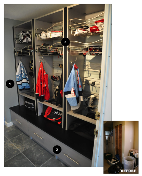 Hockey Storage For Mud Room Yahoo Search Results Sports Storage Hockey Room Room Transformation