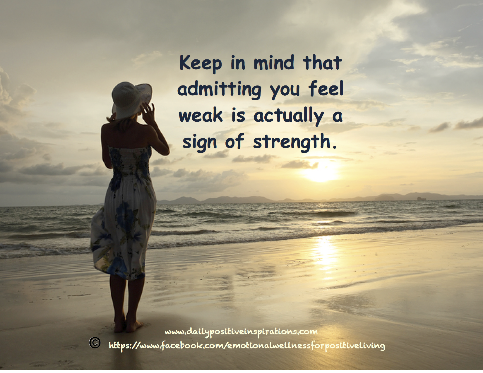 Quote for Healing. Admitting you feel weak is actually a ...