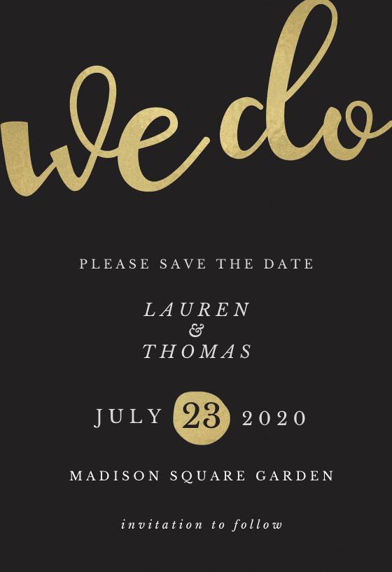 We Do Save The Date Card Template Free Greetings Island Glitter Wedding Invitations Wedding Invitation Templates Free Wedding Invitations