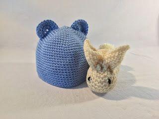 El Gnomo De Ganchillo: Gorro de Bebé y conejito de Peluche / Baby Hat and...