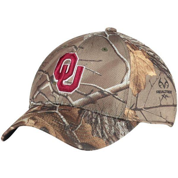 c9eed45ef3c02 Oklahoma Sooners TOW Camo Realtree Xtra Memory Foam Flexfit Hat Cap (M L)