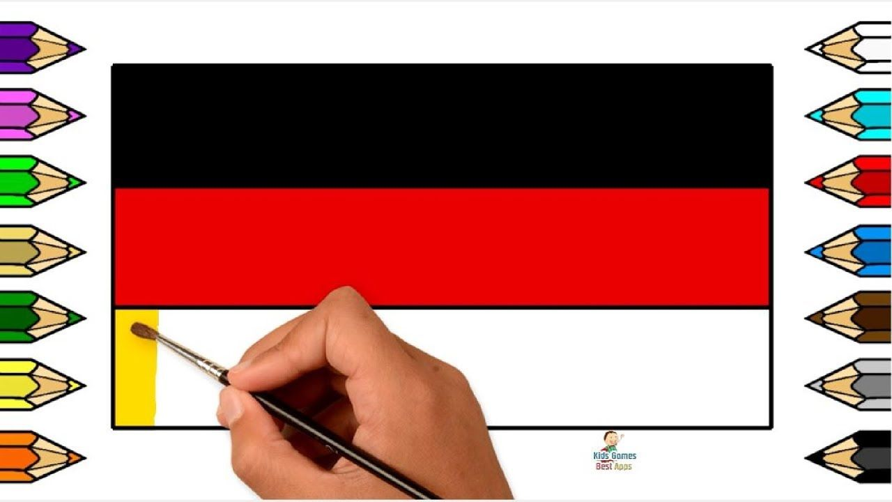 Germany Flag Coloring Learn Flags Of Countries For Kids