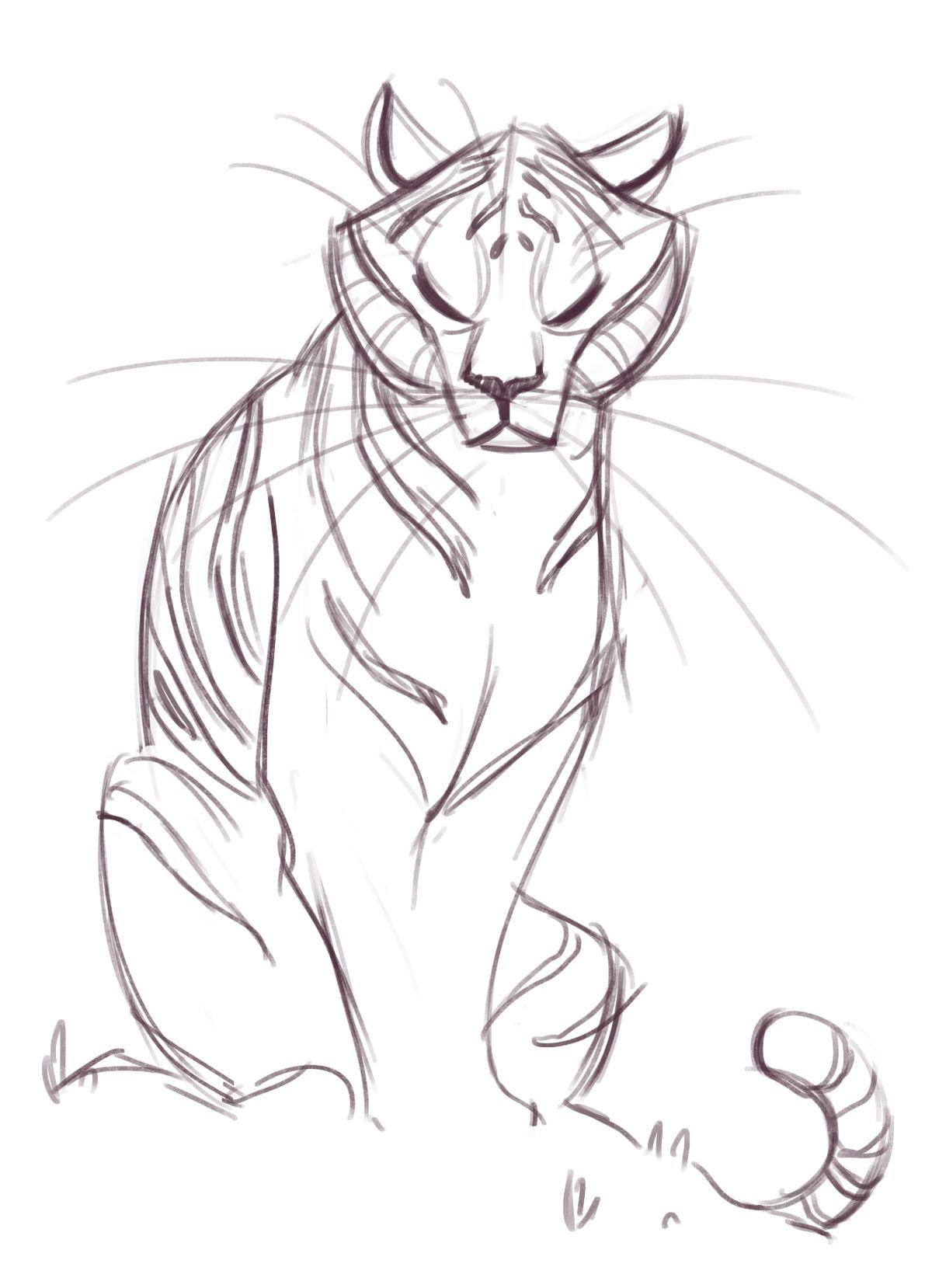 181 Tiger Sketch Tiger sketch, Animal sketches, Animal